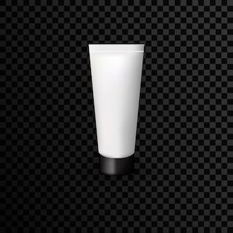 Kunststoffschlauch-werbeschablone auf transparentem hintergrund