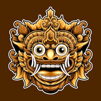 Kunstwerk barong kultur bali indonesische design-illustration