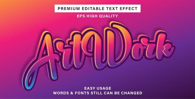 Kunstwerk bearbeitbarer texteffekt