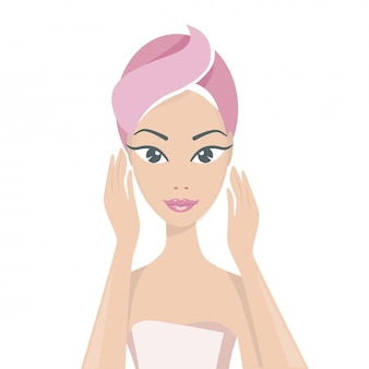 Kuranwendungen und kosmetologie. portrait eines schönen mädchens