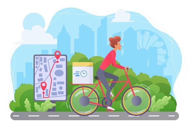 Kurier auf dem fahrrad, fahrradversand expressversand