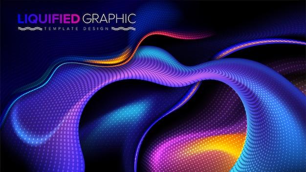 Kurvige grafische vorlage design