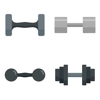 Kurzhantel-icon-set