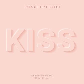 Kuss bearbeitbare texteffekt premium