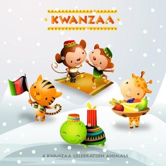 Kwanzaa hintergrund-design