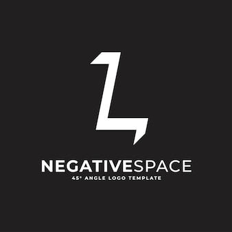 L buchstabe negativer raum geometrisches alphabet markieren logo-vektor-symbol-illustration