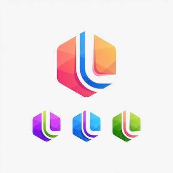 L logo tech web-zeichen
