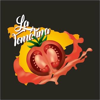 La tomatina gelb rot tomaten festival zerschlagen