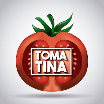 La tomatina halbe tomate festtag rot