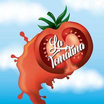 La tomatina zerschlagenes tomatenwerfenfestival