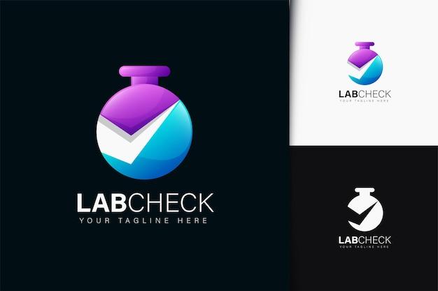 Lab check-logo-design mit farbverlauf