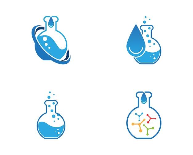 Lab-logo-vektor-vorlage