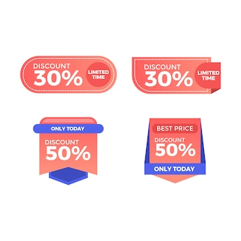 Label discount element web template