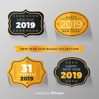 Label-kollektion des neuen jahres 2019