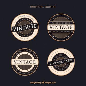 Label-kollektion mit vintage-stil
