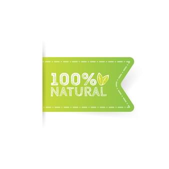 Label naturprodukt, bio, gesundes essen. vektorabzeichen