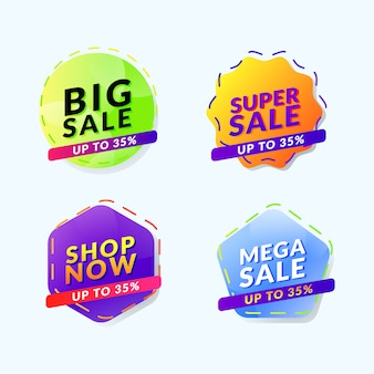 Label sale promotion icon banner vorlage
