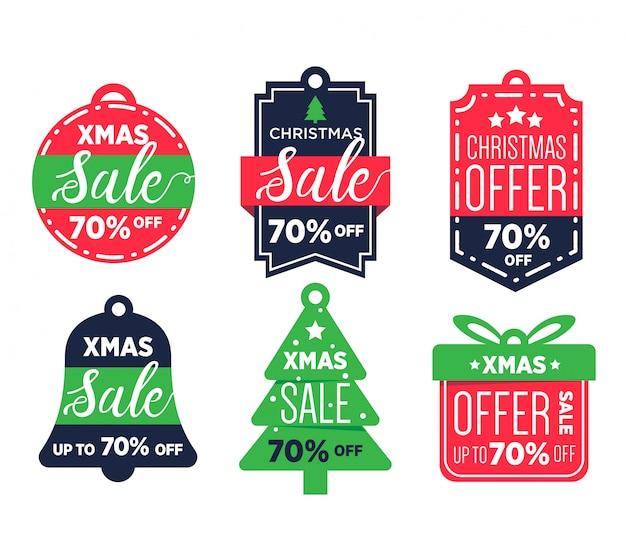 Label sales weihnachten