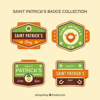 Label-sammlung für st. patricks day