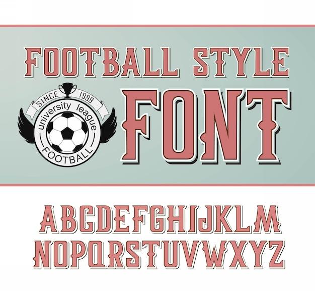 Label schriftart, fußball-stil