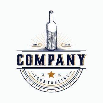 Label vintage flasche