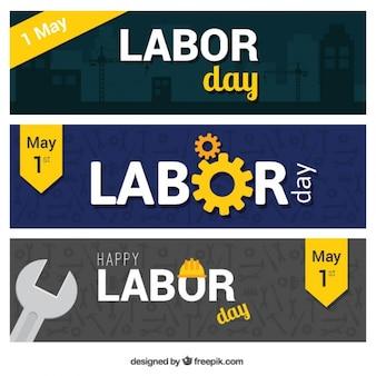 Labor day banner mit werkzeugen