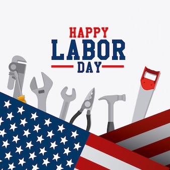 Labor day card design.
