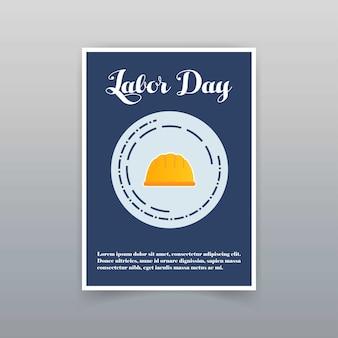 Labor day card mit einzigartigem und kreativem design