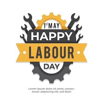 Labor day event flaches design