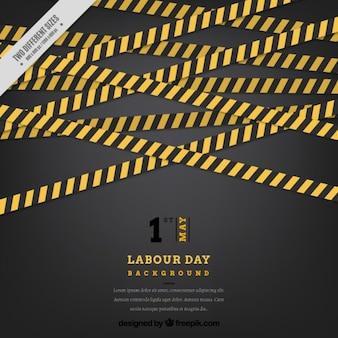 Labor day hintergrund mit gebäude bands