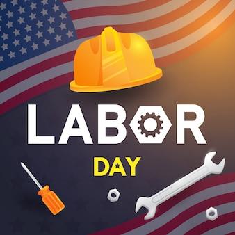 Labor day hintergrunddesign