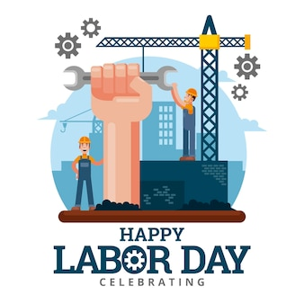Labor day illustration konzept
