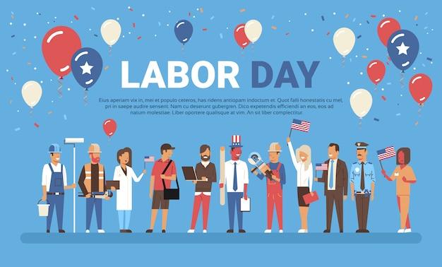 Labor day-konzept mit menschen