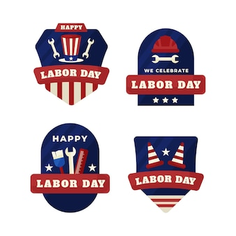 Labor day label pack