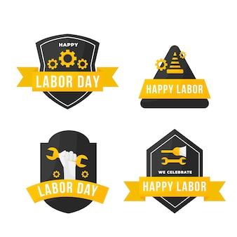 Labor day label set