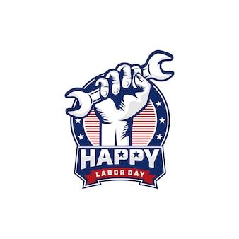 Labor day logo hintergrund design vektor