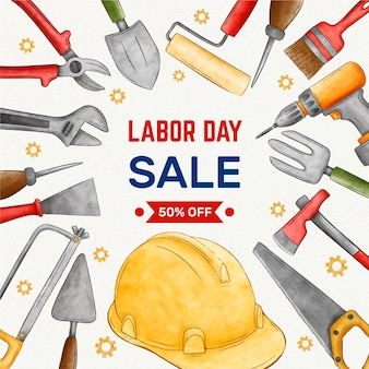 Labor day sale-konzept