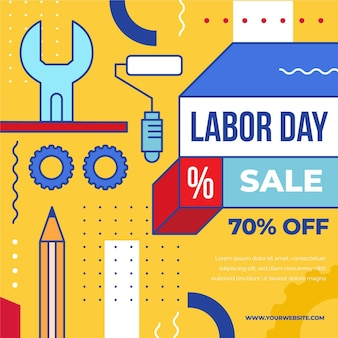 Labor day sale usa-konzept