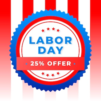 Labor day squared sale banner