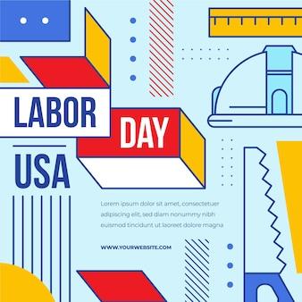 Labor day usa konzept