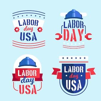 Labor day usa label sammlung