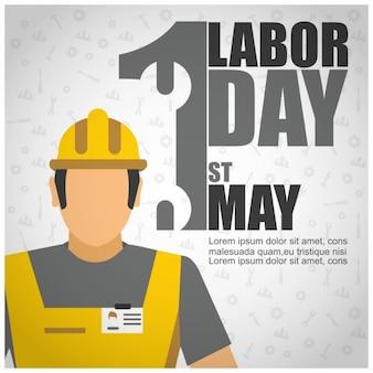 Labor day worker plakatschablone
