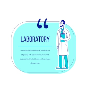 Labor flache silhouette charakter zitat