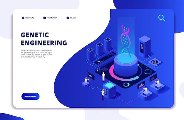 Labor für gentechnik mit website-vorlage für personen