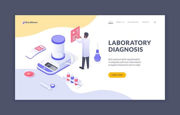 Labordiagnose männlicher arzt, der im labor arbeitet