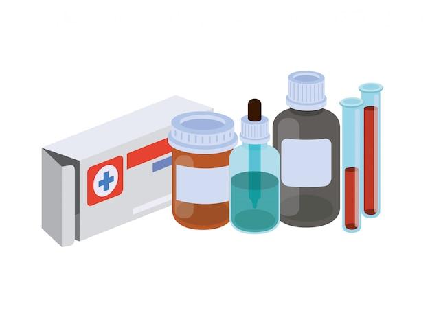 Laborinstrumente mit den medizin lokalisiert