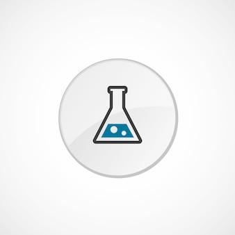 Laborsymbol 2 farbig, grau und blau, kreisabzeichen