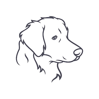 Labrador retriever-hund - vektorlogo / ikonenillustrationsmaskottchen