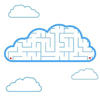 Labyrinth. blaue wolke.
