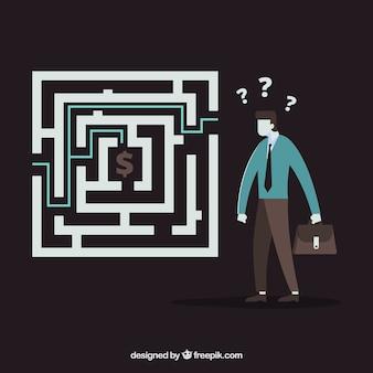 Labyrinth business konzept hintergrund